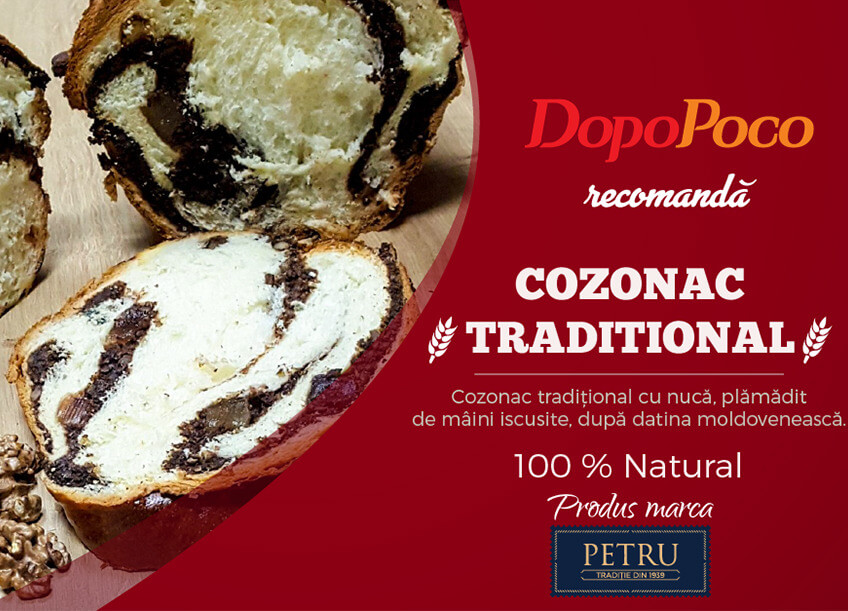 Cozonac traditional 100% natural la Dopo Poco Delivery